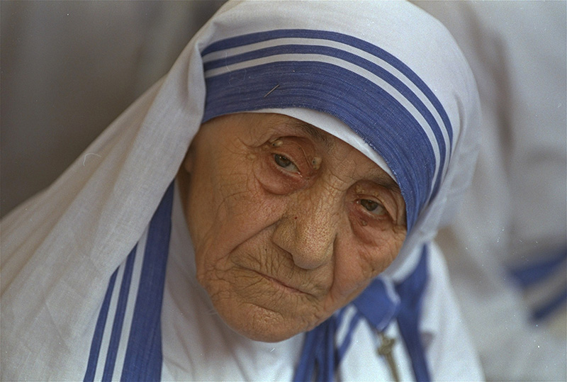 Mother Teresa, head of Missionaries of Charity, in New Delhi,  India in 1993.