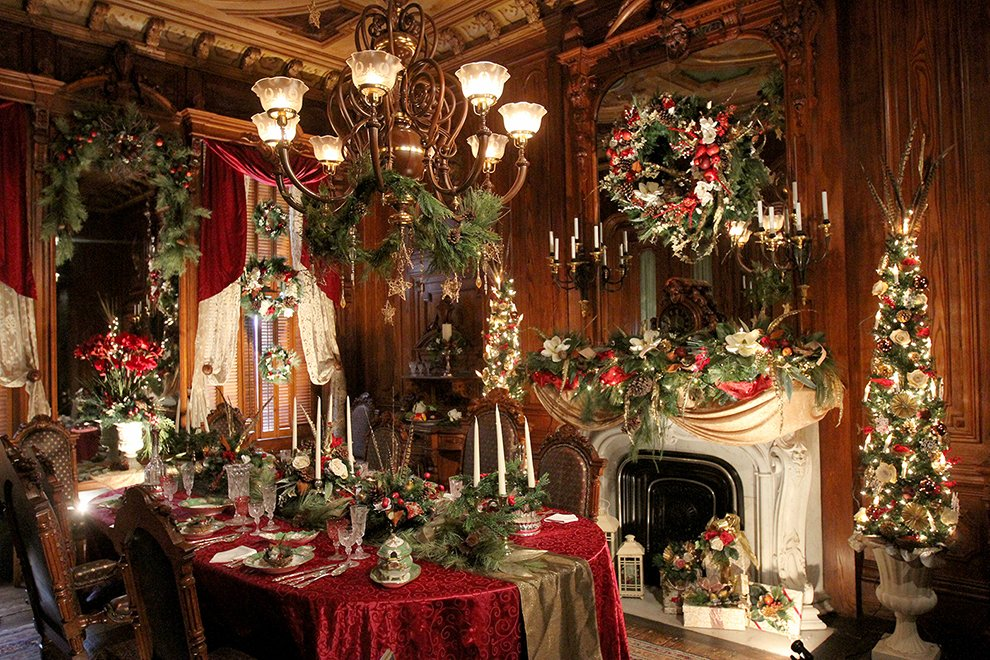 christmas at victoria mansion is a highlight for the 32nd year at the landmark on danforth street in portland - Mansion Christmas Decorations