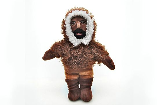 A doll depicts explorer Matthew A. Henson. Image from the Peary-MacMillan Arctic Museum website.