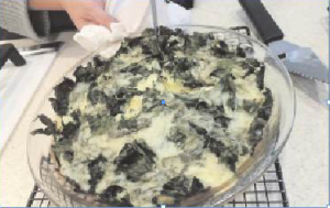 Crustless Kale Pie, a dish from the Cooperative Extension's recent Savory Harvest Pies class. Peggy Grodinsky photo