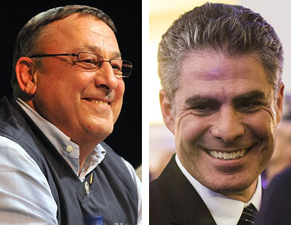 Gov. Paul LePage and Portland Mayor Ethan Strimling debated policy over lunch Tuesday, taking a step toward restoring the relationship between Augusta and Portland.