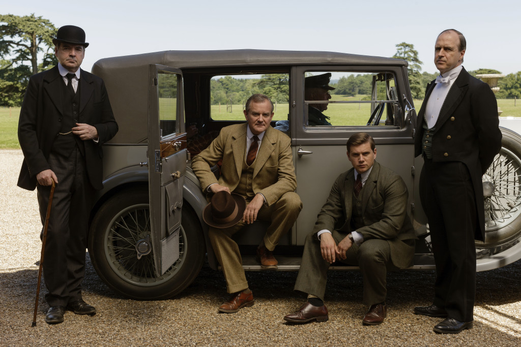 From left, Brendan Coyle as Bates, Hugh Bonneville as Lord Grantham, Allen Leech as Tom Branson and Kevin Doyle as Molesley. Nick Briggs/Masterpiece