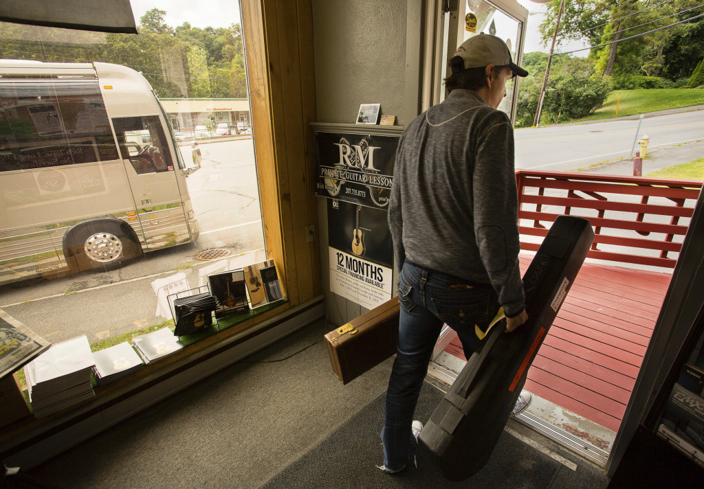 While in Bangor, Bonamassa visited Northern Kingdom Music. Photo for The Washington Post by Carl D. Walsh