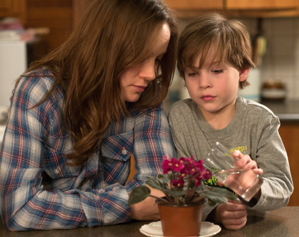 "The violence in ""Room,"" with Brie Larson and Jacob Tremblay is treated more obliquely. A24"