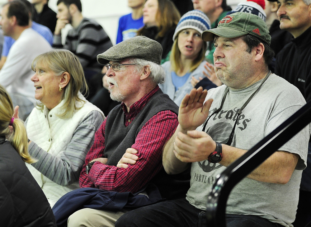 If this is the early afternoon, this must be the Portland Expo for Jeff Spaulding of Auburn, right, who watched the Maine Red Claws, then hopped over to the Cross Insurance Arena to catch the Portland Pirates. And brought them both a win.