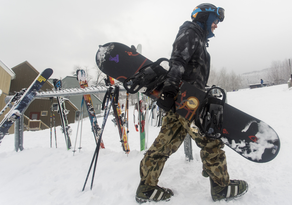 All things being equal, Anthony Rogers of Kingfield would be heading to a Saddeback lift instead of Sugarloaf 's SuperQuad, but Saddleback has yet to open this winter.