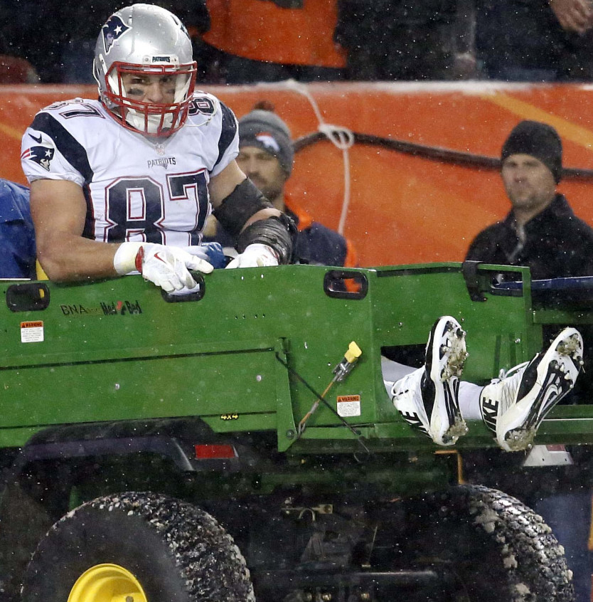Rob Gronkowski was carted off the field in Denver on Nov. 29, rattling Patriots fans. His injury had a major impact on the New England offense.