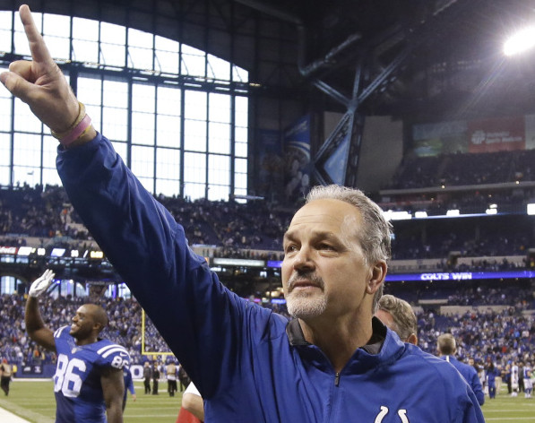 Coach Chuck Pagano agreed to a contract extension to remain with the Indianapolis Colts late Monday night. The Cots went 8-8 this season.