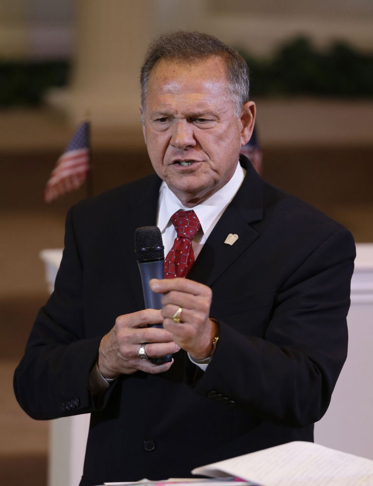 Alabama Supreme Court Chief Justice Roy Moore suggested Wednesday that Alabama probate judges should refuse to issue marriage licenses to gay couples despite the U.S. Supreme Court ruling in June 2015 that effectively legalized same-sex marriage throughout the country.