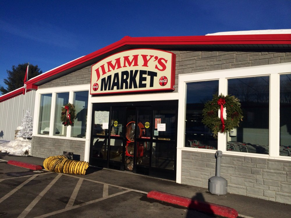 Jimmy's Market on U.S. Route 201 in Bingham was closed Wednesday after a fire in a construction area damaged the building.
