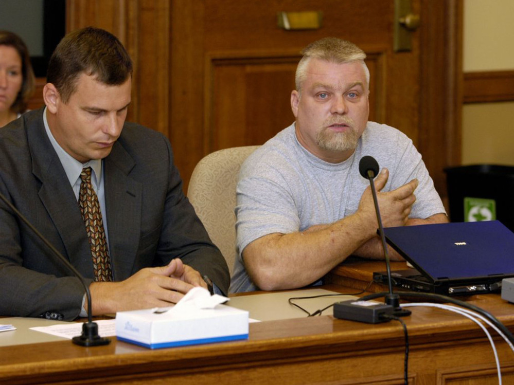 "Steven Avery, right, in the Netflix original documentary series ""Making a Murderer."" An online petition has collected hundreds of thousands of digital signatures seeking a pardon for a pair of convicted killers-turned-social media sensations."