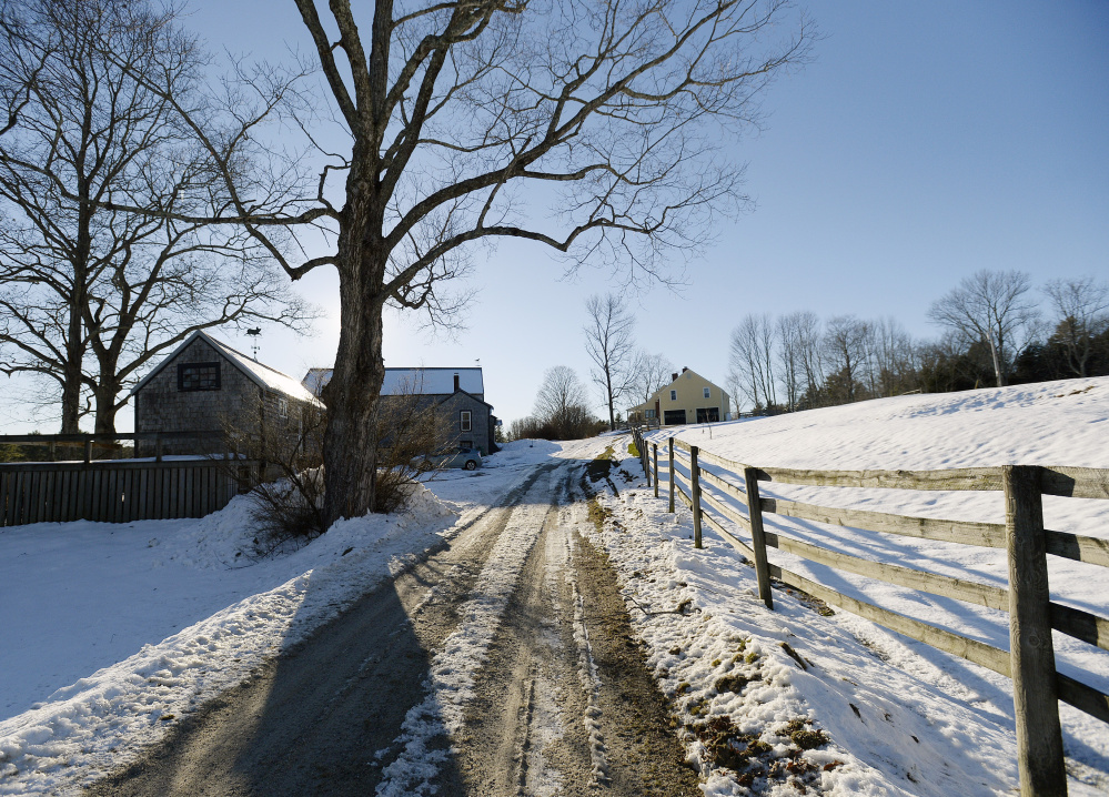 The 105-acre River Bend Farm in Saco, where The Ecology School hopes to have a new campus, includes a mix of farmland, forest and ponds, a farmhouse built in 1794 and a barn from the 1840s.