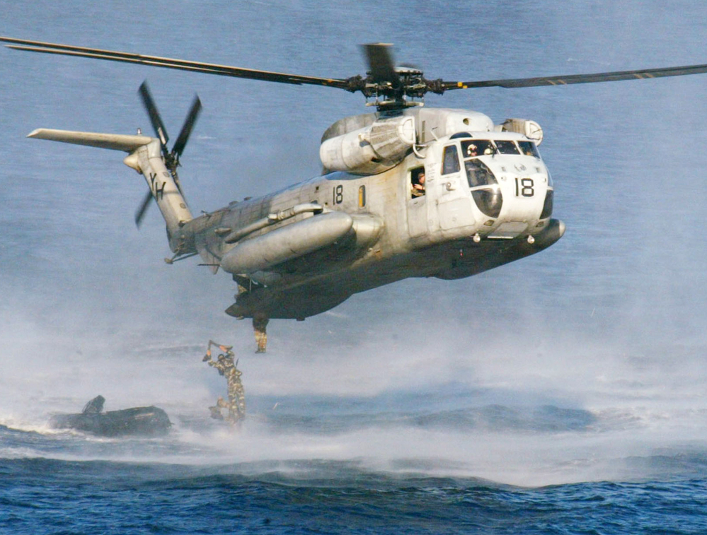 The largest helicopters in the U.S. military, the Super Stallions are capable of carrying a light armored vehicle. Two of the aircraft crashed off the Hawaiian island of Oahu on Thursday, and 12 Marines are missing.