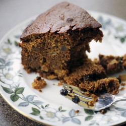 Sally Jewett Cake, from a recipe in Maine's first cookbook, published in 1877, is a spicy treat.