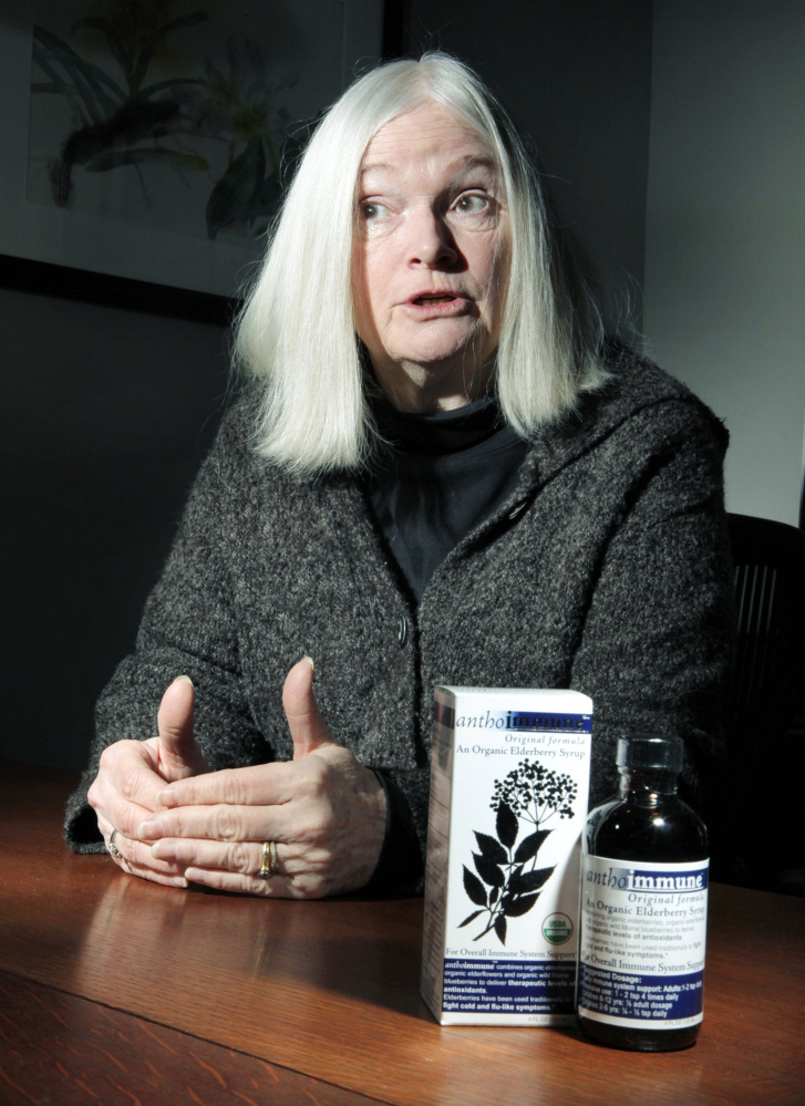 Edie Johnston says her business, Dresden-based Maine Medicinals, will have to absorb the cost of higher shipping costs, at least for a time. She plans to reconsider her flat $5 shipping charge for her nutritional supplements. 2010 Press Herald file photo/Gregory Rec