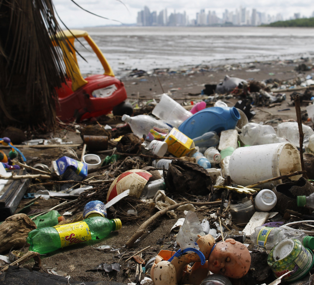 The once-pristine shores of Panama City, Panama, are proof that discarded plastic doesn't discriminate, as piles of the debris wash up near the ritzy neighborhood of Costa del Este neighbourhood.
