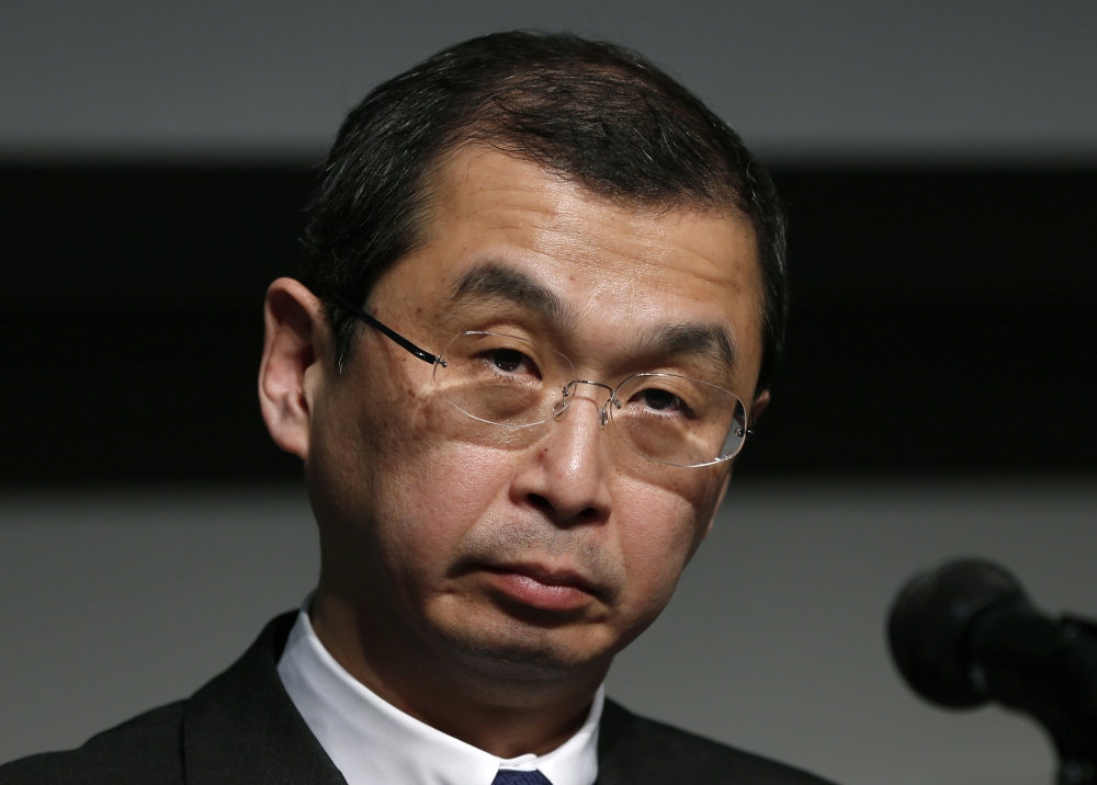 Japanese air bag maker Takata Corp. CEO Shigehisa Takada listens to a reporter's question during a June news conference in Tokyo. Government officials say a Ford pickup driver killed in December in South Carolina is the ninth person to die in the U.S. and the 10th worldwide caused by defective Takata air bag inflators that explode, firing off shrapnel-like shards.