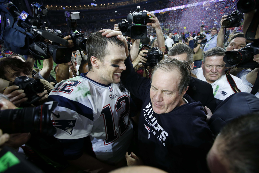 New England Patriots coach Bill Belichick and quarterback Tom Brady deserve much of the credit for the franchise's four Super Bowl wins and six AFC titles in the last 15 years.