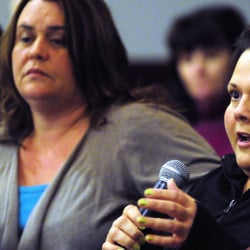 Jodi French, right, who's been specially trained to handle patients with a history of dangerous behavior, testified that it confuses those she treats when staffing shortages force her to fill in for other Riverview employees.