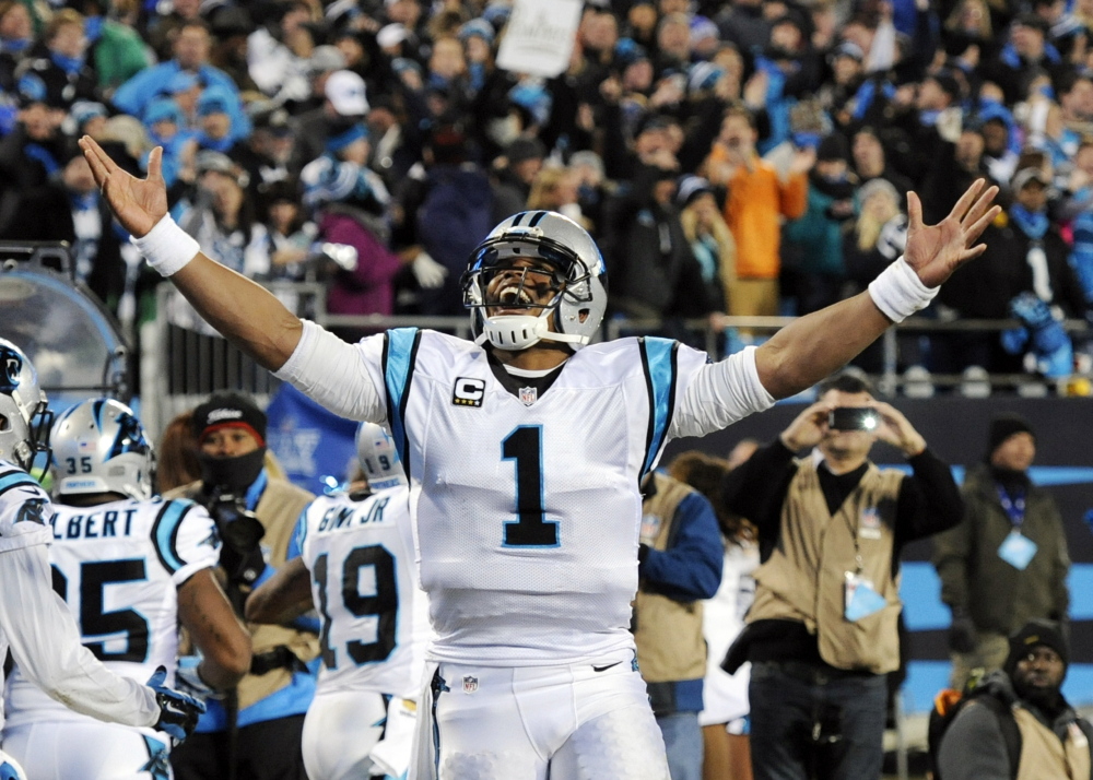 Cam Newton did a little bit of everything in the Panthers' victory over Arizona in the NFC championship game. The likely NFL MVP rushed for two TDs and passed for two more.