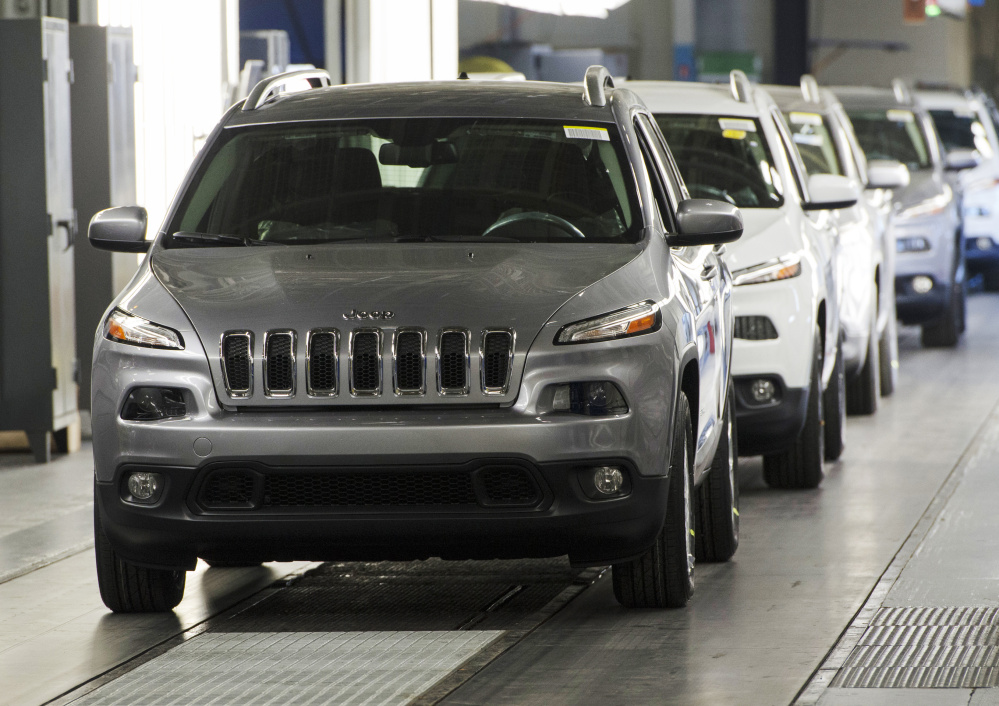 The Jeep Cherokee has been a popular make for Fiat Chrysler, whose Chrysler Toledo Assembly Complex in Toledo, Ohio, has been upgraded to produce more of the vehicles.