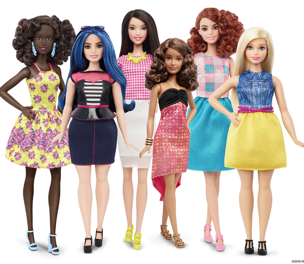 Mattel, the maker of the Barbie doll, says it will start selling Barbies in three new body types: tall, curvy and petite.