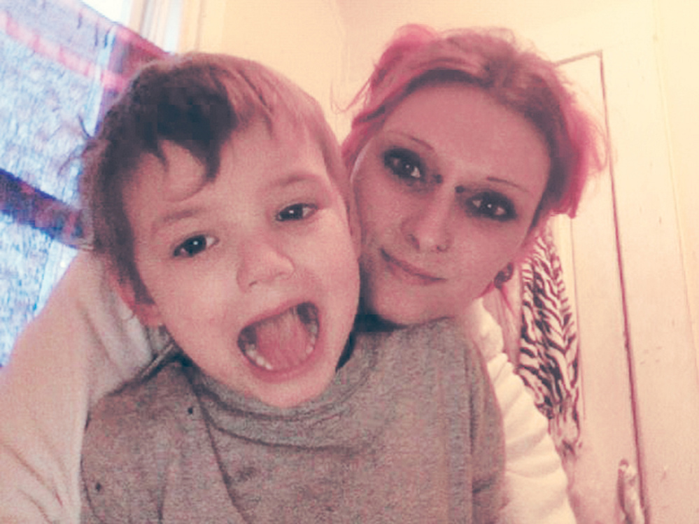 Zina Fritze and her son, Loki McQuade, in an undated photo contributed by her sister.