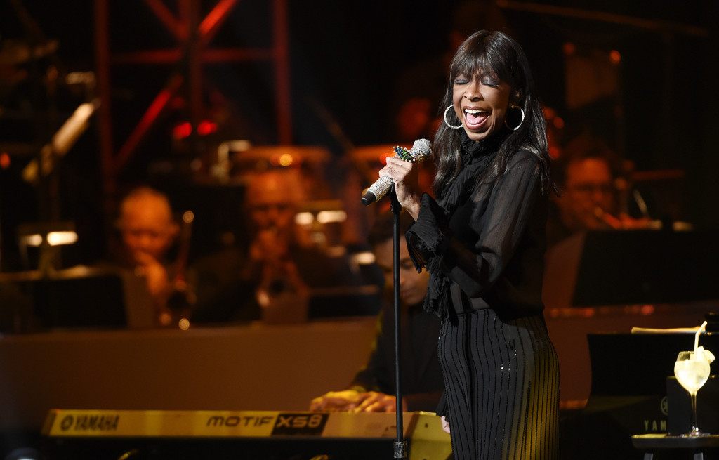 Singer Natalie Cole performs during the SeriousFun Children's Network event at the Dolby Theatre on May 14, 2015, in Los Angeles. The Associated Press