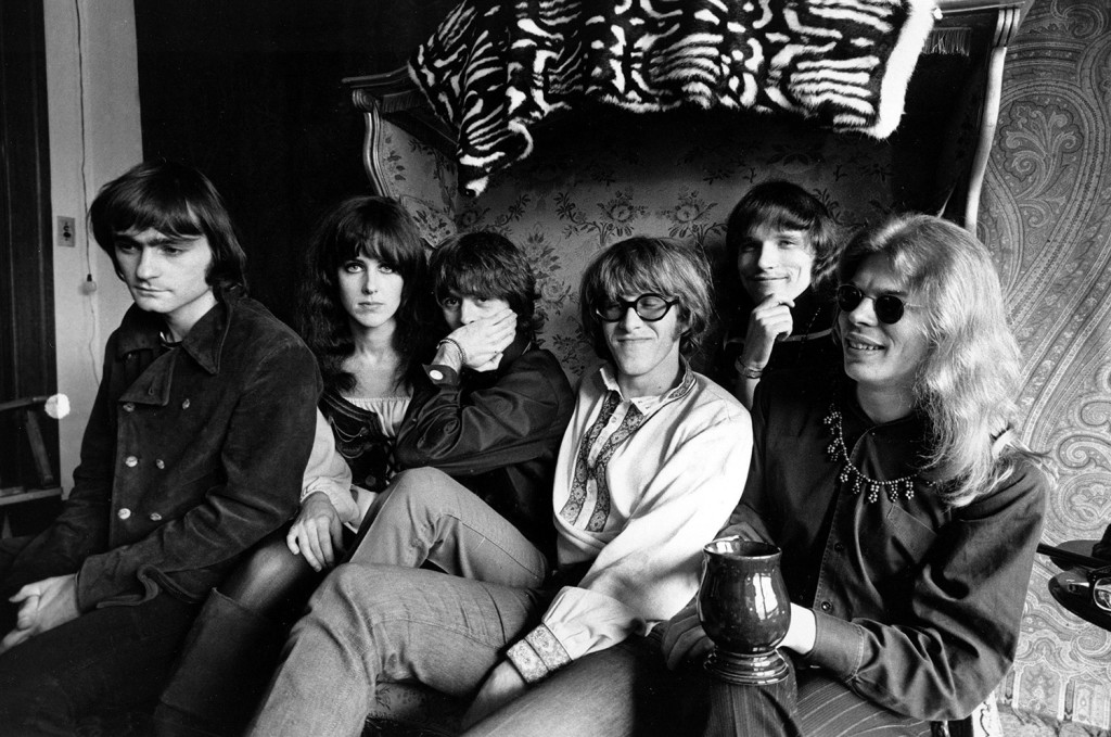 Members of the rock group Jefferson Airplane pose for a photograph in San Francisco in 1968. From left, Marty Balin, Grace Slick, Spencer Dryden, Paul Kantner, Jorma Kaukonen, and Jack Casady.