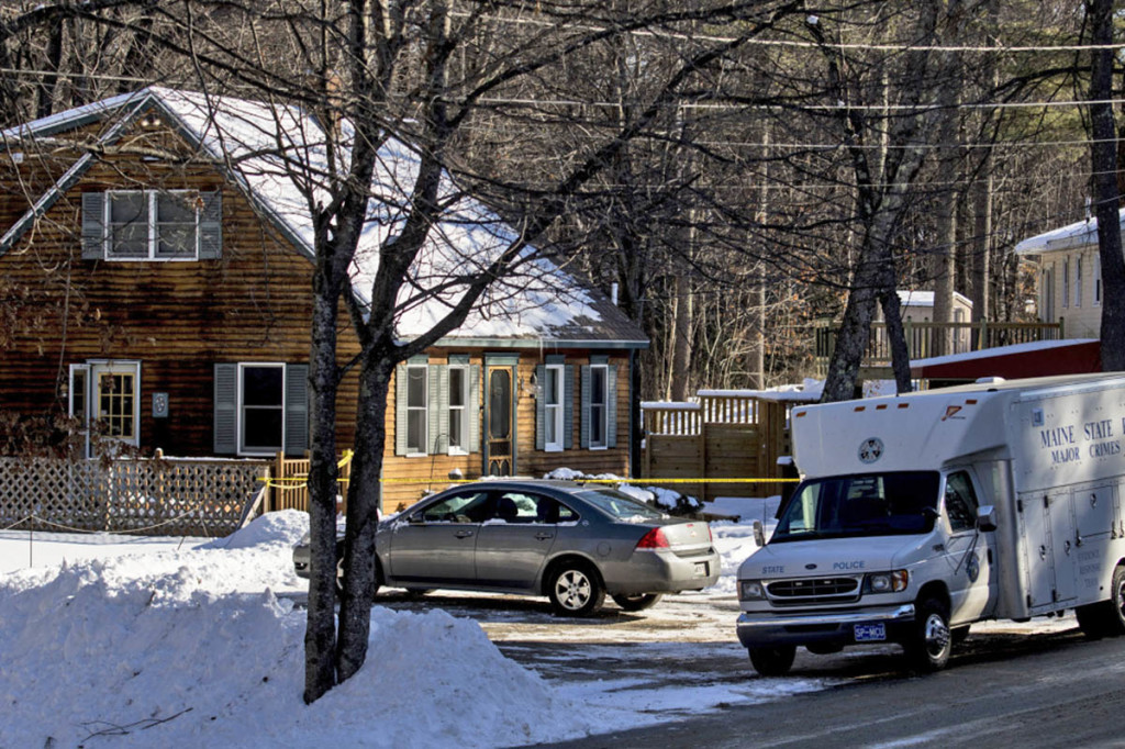 State police investigate on Jan. 14 at 37 Brookhaven Drive in Windham, where Alicia Gaston, 34, was shot by her husband, Noah, 33, who called 911 shortly after the 6 a.m. shooting. Police charged Noah Gaston on Friday with murder. Gabe Souza/Staff Photographer