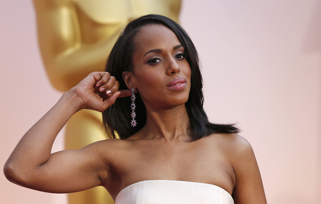 Actress Kerry Washington arrives at the 87th Academy Awards in Hollywood in this Feb. 22, 2015, photo. Reuters