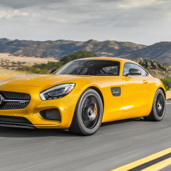 Starting at $129,900, the Mercedes-AMG GT S features a 4.0 twin-turbocharged V8 engine that produces 503 horsepower and 479 pound-feet of torque that rockets you to 60 mph in 3.7 seconds. (Photo courtesy Mercedes-Benz/TNS)