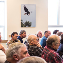 Representatives of the lobster and fishing industries turned out in large numbers for the Marine Resources Committee's initial hearing at the Cross Building in Augusta on Wednesday.