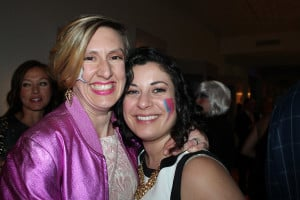 Morgan McCormack and Elise Loschiavo of Portland were among the attendees at the Contemporaries annual Winter Bash.