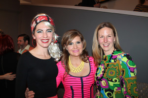 Catlin Byers of Cumberland Foreside with Leandra Fremont-Smith and Carrie Cianchette of Cumberland Foreside at the Contemporaries annual Winter Bash.