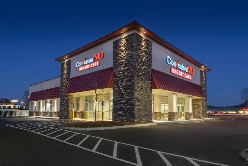 This Photo Of A Recently Constructed ConvenientMD Location In New Hampshire Depicts The General Size And Amount Signage Used By Urgent Care Company