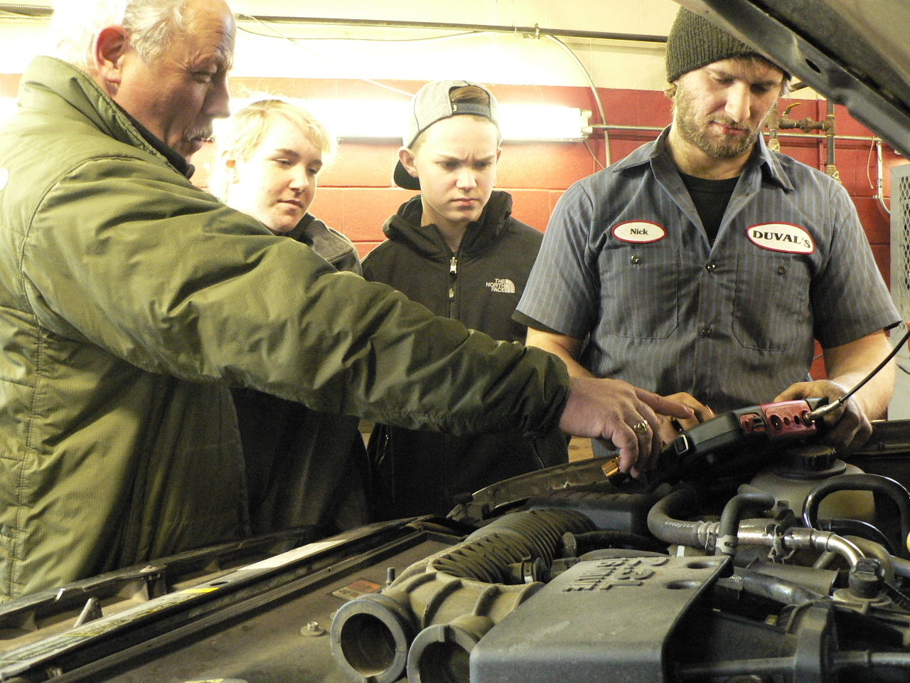 job shadowing where once he watched south portland auto mechanic mark duval left offers a job shadow opportunity to south portland eighth graders abby heskett and garrett lynn center last week