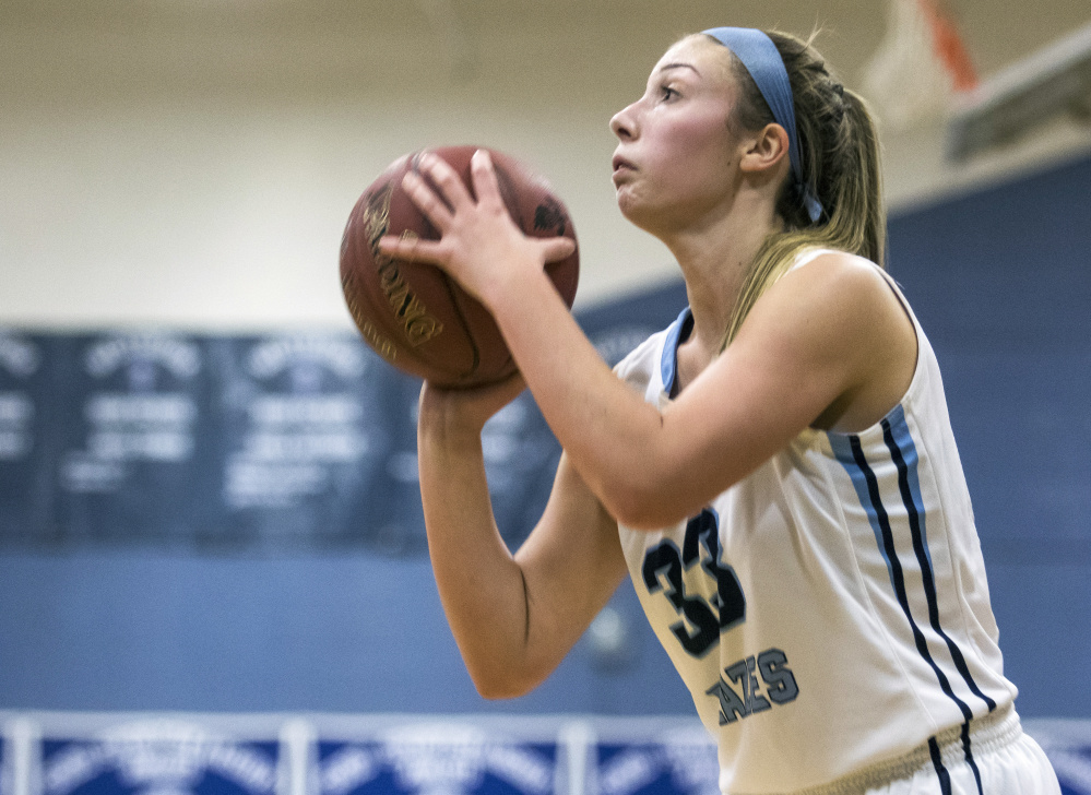 When Alicia Aube isn't shooting 3-pointers, the 6-foot junior guard is often using her ball-handling ability to drive to the basket.
