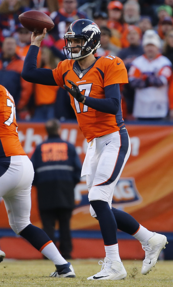 Brock Osweiler had success subbing for injured Peyton Manning, but a rough start in Week 17 and his own injuries have him back to backing up.