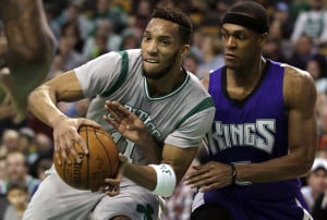 Evan Turner, left, signed a four-year deal with the Portland Trail Blazers on Friday.