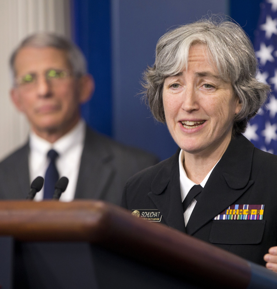 Dr. Anne Schuchat, principal deputy director of the Centers for Disease Control and Prevention, speaks to the media about the Zika virus during the daily briefing in the Brady Press Briefing Room of the White House in Washington on Monday.