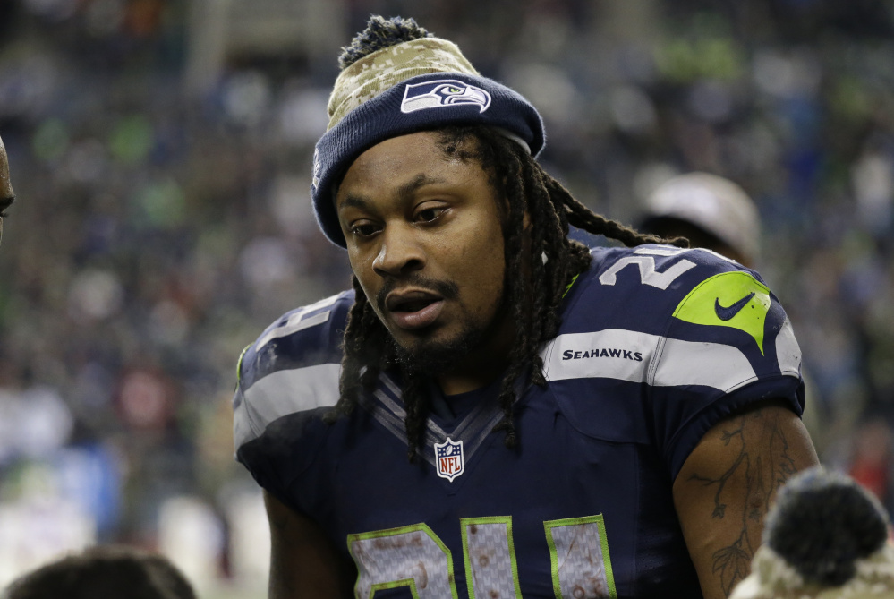 Marshawn Lynch avoided talking to the media, and did it again when he announced his retirement on Twitter by posting a picture of green cleats hanging from a power line.
