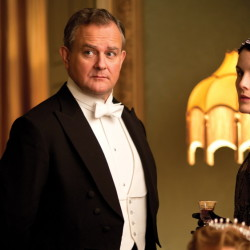 "Hugh Bonneville plays Robert Crawley and Michelle Suzanne Dockery is Lady Mary Crawley in the period drama series ""Downton Abbey."""