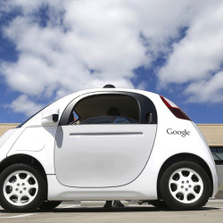 Google's self-driving car is shown in May on the campus in Mountain View, Calif. The federal government's highway safety agency agrees with Google: Computers that will control the cars of the future can be considered their drivers.
