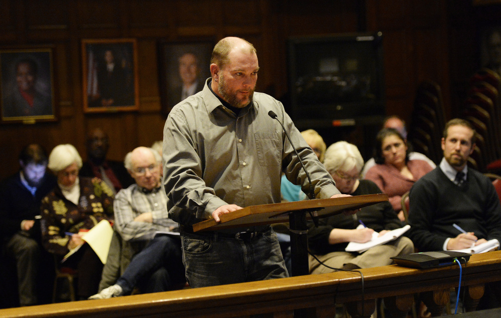 Keith Costello, who lives in Portland's Rosemont neighborhood, told the Housing Committee that he doesn't dare to complain about problems at his apartment because he's afraid that he'll find himself without a place to live.
