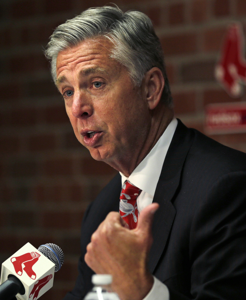 Red Sox President of Baseball Operations Dave Dombrowski was in New York Thursday night with Yankees GM Brian Cashman at a benefit for the charitable foundations of both teams.
