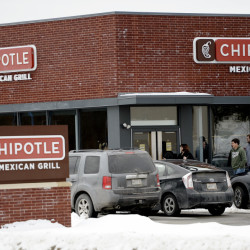 Income for the Chipotle chain plummeted in the fourth quarter but business seems to be hopping at the Chipotle restaurant in South Portland on Wednesday.