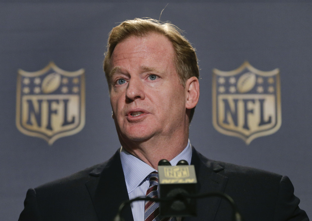The authority of NFL Commissioner Roger Goodell, seen at a news conference in October, was reinforced by the decision of the federal appeals court.