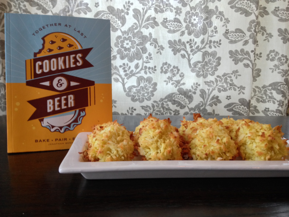 "These curry coconut macaroons were the favorite at a recent tasting party using recipes from ""Cookies & Beer.""  Dave Patterson"