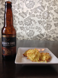 Curry coconut Mmcaroons paired with Bucko's Hoppy Brown Ale from Hidden Cove Brewing Company. Dave Patterson